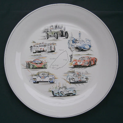 Rond Bord Uni serving plate - Limited Edition 24H Le Mans hand painted decoration