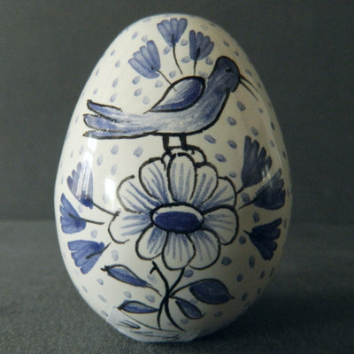 Egg with Delft monochrome blue hand painted decoration