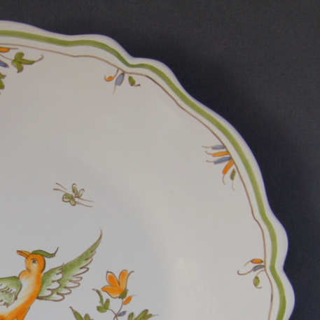 Feston plate with Moustiers 12 hand painted decoration