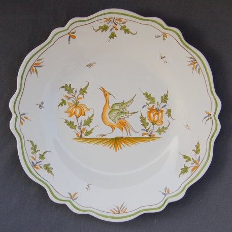 Feston plate with hand painted decoration Moustiers 15