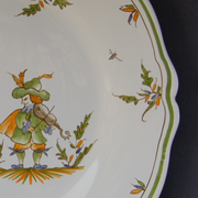 Feston plate with Moustiers 17 hand painted decoration