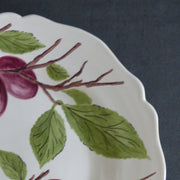 Feston Plate with hand painted Pouplard Prune decoration