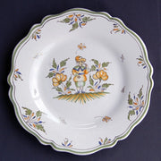 Feston plate with hand painted decoration Moustiers 4