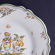 Feston plate with Moustiers 4 hand painted decoration