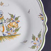 Feston plate with Moustiers 6 hand painted decoration