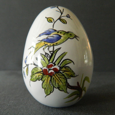 Egg with St Omer polychrome hand painted decoration