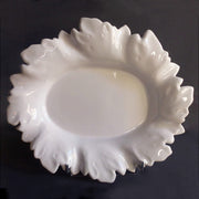 Acanthe oval serving dish in white