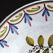 Bord Uni Plate with hand painted Antique Fleurs 79 decoration