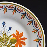 Bord Uni Plate with hand painted Antique Fleurs 87 decoration