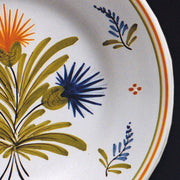 Bord Uni Plate with hand painted Antique Fleurs 90 decoration