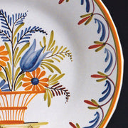 Bord Uni Plate with hand painted Antique Fleurs 91 decoration