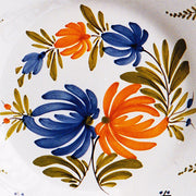 Bord Uni Plate with hand painted decoration Antique Fleurs 93