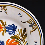 Bord Uni Plate with hand painted Antique Fleurs 93 decoration