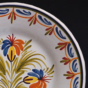 Bord Uni Plate with hand painted Antique Fleurs 94 decoration