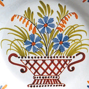 Bord Uni Plate with hand painted Antique Fleurs 96 decoration