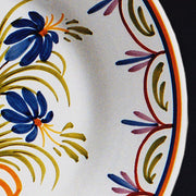 Bord Uni Plate with hand painted Antique Fleurs 98 decoration