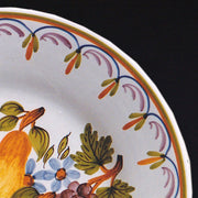 Bord Uni plate with Antique fruits 1 hand painted decoration