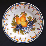 Bord Uni plate with Antique fruits 69 hand painted decoration