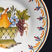 Bord Uni plate with Antique fruits 72 hand painted decoration