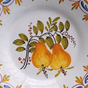 Bord Uni plate with Antique fruits 74 hand painted decoration