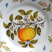 Bord Uni plate with Antique fruits 75 hand painted decoration
