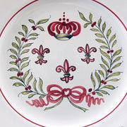 Feston plate with hand painted Strasbourg Couronne decoration