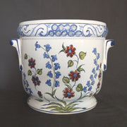 cache pot faience peint