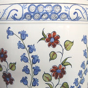 Earthenware anses anciennes planter with hand painted Iznik decoration