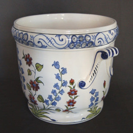 Anses anciennes planter with hand painted Iznik decoration