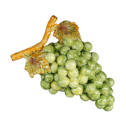 Green bunch of earthenware grapes