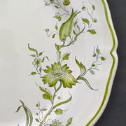 Rond Festons serving plate with St Omer hand painted decoration