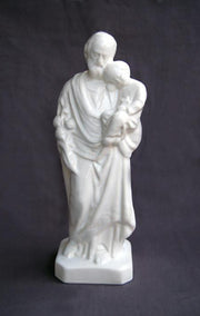 Earthenware St-Joseph to the child Statue