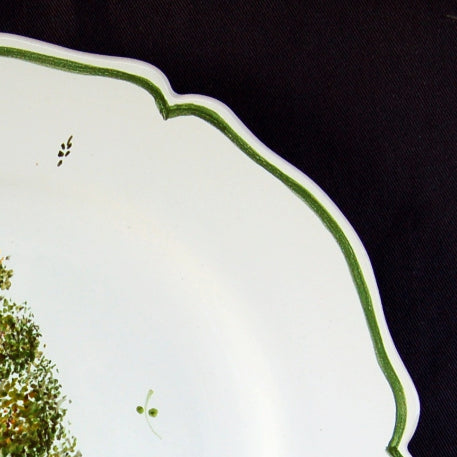 Feston plate with Topiaire 1 hand painted decoration