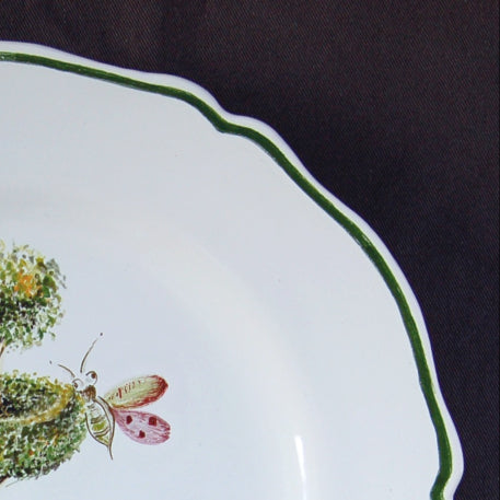 Feston plate with Topiaire 3 hand painted decoration