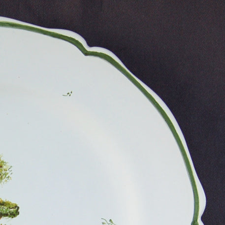 Feston plate with Topiaire 4 hand painted decoration