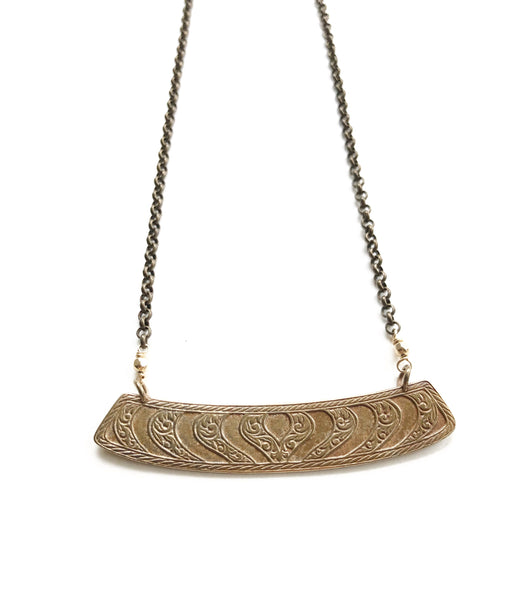 Vintage brass necklace