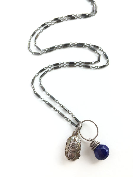 Scarab with Lapis Necklace