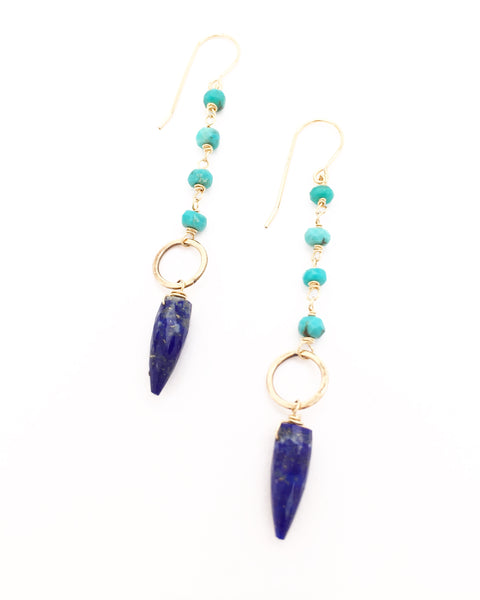 Lapis Point Earrings