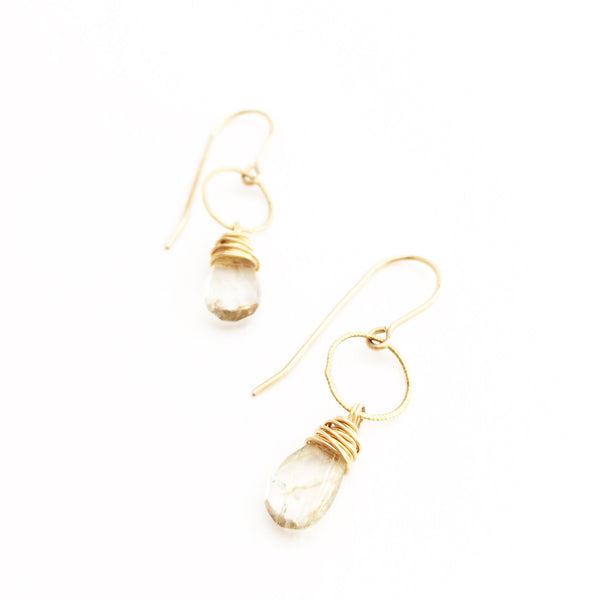Rutilated Quartz Drops