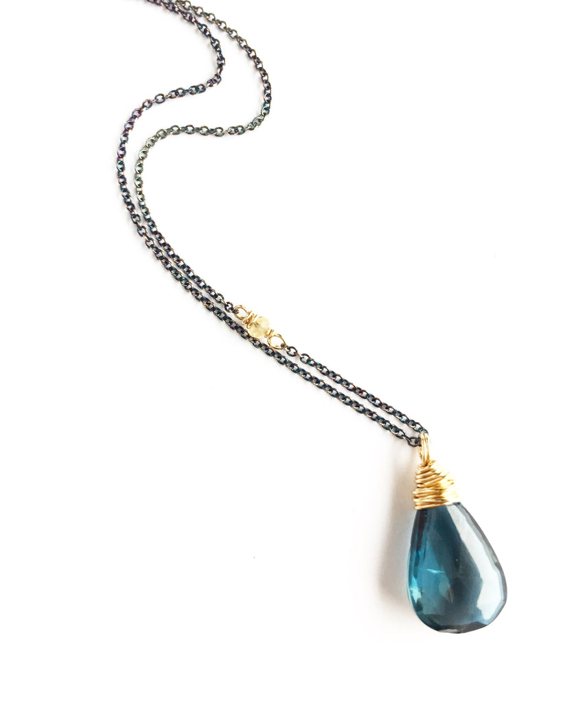 Blue Topaz Shift Necklace