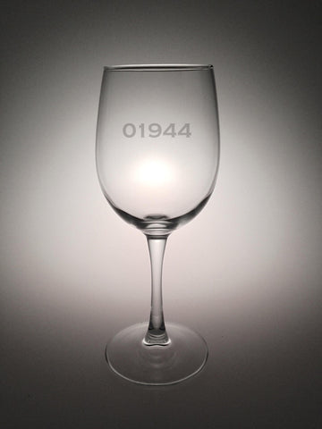Personalized Zip Code Wine Glasses - Set of 4