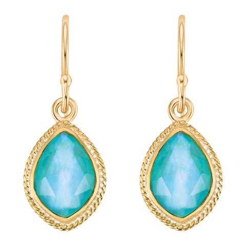 Turquoise Almond Drop Earrings