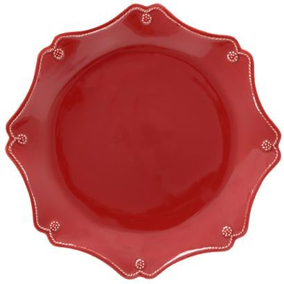 Juliska Berry & Thread Scallop Charger - Ruby