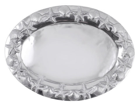 Mariposa Sea Border Oval Server