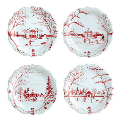 Juliska Country Estate Ruby Party Plates