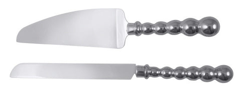 Mariposa Pearled Cake Server Set