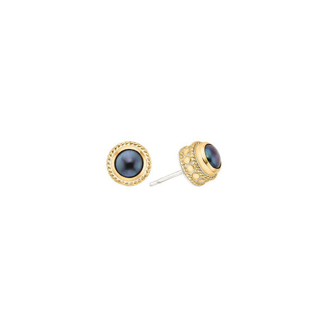 Anna Beck Blue Pearl Stud Earrings