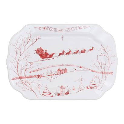 Juliska Country Estate Ruby Gift Tray - Joy to the World