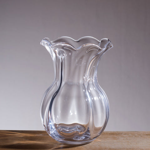 Simon Pearce Chelsea Optic Posy Vase
