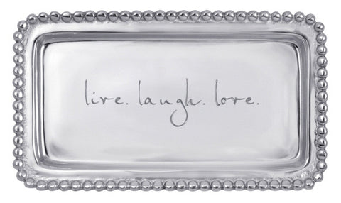 "Mariposa ""live. laugh. love."" Tray"